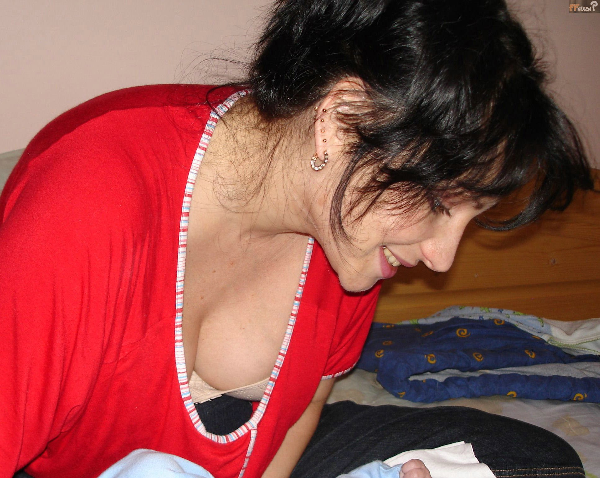 Open Blouse Pics Cleavage 10